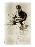Sketch of a Cavalry Soldier (Civil War) Giclee Print by Winslow Homer