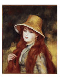 Young Girl in a Straw Hat Giclee Print by Pierre-Auguste Renoir