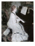 Woman at the Piano, 1875/76 Giclee Print by Pierre-Auguste Renoir