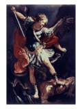 Archangel Michael Giclee Print by Guido Reni