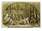 Constantine Presents Rome to Pope Sylvester I Impression giclée par  Raphael