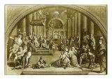Constantine Presents Rome to Pope Sylvester I Giclee Print by  Raphael