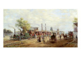 Camden and Amboy Railroad Giclee Print by Edward Lamson Henry