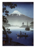 Japanese Print (Mt Fuji from Tagonoura) Reproduction procédé giclée