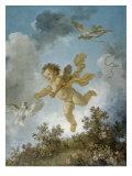 Love Reaching for a Dove Reproduction procédé giclée par Jean-Honoré Fragonard