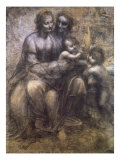 Virgin and Child with St. Anne and Infant Giclee Print by Leonardo da Vinci