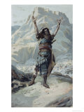 Joshua Commandeth the Sun to Stand Still Giclee Print by James Tissot