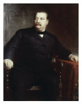 Grover Cleveland, (President 1885-1889) Reproduction proc&#233;d&#233; gicl&#233;e par Eastman Johnson