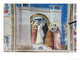 The Meeting of Anna and Joachim Giclee Print by  Giotto di Bondone