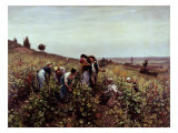 Gathering Grapes Giclee Print by Daniel Ridgway Knight
