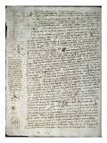 Codex Leicester: Science of Waves Giclee Print by  Leonardo da Vinci