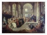Jesus in the Temple Reproduction procédé giclée par Giovanni Paolo Pannini
