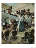 The Gathering of Manna Giclee Print by James Tissot