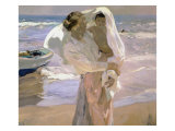 After the Bath Giclee Print by Joaqu&#237;n Sorolla y Bastida