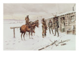 Indian Trading Post Giclée-tryk af Charles Marion Russell