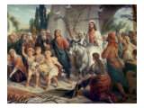 Christ's Entrance into Jerusalem Giclee Print by Bernhard Plockhorst