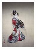 Japanese Print (Woman in Kimono) Giclee Print