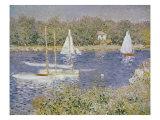 Basin D'Argenteuil Giclée-tryk af Claude Monet