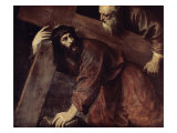 Christ and Simon the Cyrenian Giclée-tryk af Titian (Tiziano Vecelli)