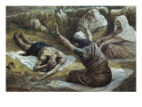 Job Lying in a Heap of Refuse Giclee Print by James Tissot