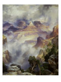 Canyon Mists: Zoroaster Peak, Grand Canyon Giclee Print by Thomas Moran