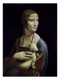 Portrait of Cecilia Gallerani (Lady with an Ermine) Giclée-tryk af Leonardo da Vinci,