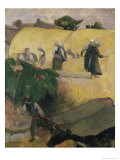Haystacks Giclee Print by Paul Gauguin