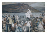 Jesus Teaching by the Seashore Giclee Print by James Tissot