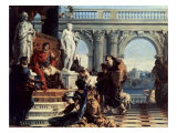 Maecenas Presents the Arts to Augustus Giclee Print by Giovanni Battista Tiepolo