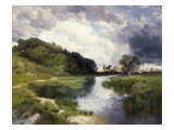 Amagansett Approaching Storm Giclee Print by Thomas Moran