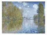 Autumn in Argenteuil Premium Giclee Print by Claude Monet