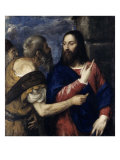 The Tribute Money, 1560-1568 Giclée-tryk af Titian (Tiziano Vecelli)