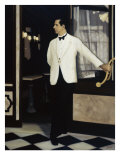 Italian Waiter Giclee Print by Dale Kennington