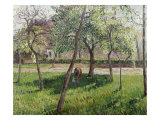 An Enclosure in Eragny Giclee Print by Camille Pissarro