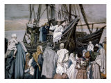Jesus Preaching on a Boat Giclee Print by James Tissot