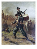 The Wounded Drummer Boy Premium Giclee Print by Eastman Johnson
