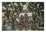 Holiday, the Picnic Giclee Print by Maurice Brazil Prendergast