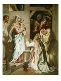 Adoration of the Magi Premium Giclee Print by Heinrich Hofmann