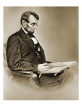 Abraham Lincoln Reproduction procédé giclée