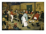 The Peasants' Wedding Giclee Print by Pieter Bruegel the Elder