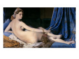 The Grand Odalisque Premium Giclee Print by Jean-Auguste-Dominique Ingres