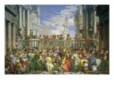 The Wedding at Cana Reproduction procédé giclée par Paolo Veronese