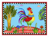 Rooster Giclee Print by Helen Lurye