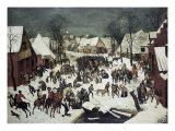 Barnmorden i Betlehem Gicléetryck av Pieter Bruegel the Elder