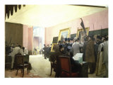 Une Seance Du Jury de Peinture Giclee Print by Henri Gervex