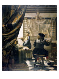The Artist's Studio Giclee Print by Jan Vermeer