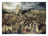 The Procession to Calvary Gicléetryck av Pieter Bruegel the Elder