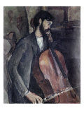 The Cello Player Reproduction procédé giclée par Amedeo Modigliani