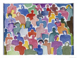 Crowd No.2 Giclee Print by Diana Ong