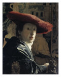 Girl with a Red Hat Gicl&#233;e-Druck von Jan Vermeer